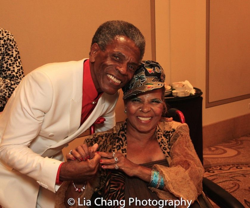 André De Shields and Ntozake Shange at BTN's 30th Anniversary Bruncheon at the Palmer House Hilton in Chicago on August 9, 2016. Photo by Lia Chang
