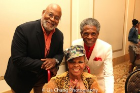 Donald Sutton, Ntozake Shange and André De Shields at BTN's 30th Anniversary Bruncheon at the Palmer House Hilton in Chicago on August 9, 2016. Photo by Lia Chang