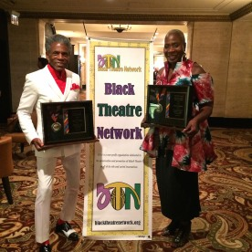 2016 Winona Lee Fletcher Award recipients André De Shields and Marcia Pendleton at BTN's 30th Anniversary Bruncheon at the Palmer House Hilton in Chicago on August 9, 2016. Photo by Lia Chang