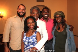 André De Shields with Santino Craven, Antonia LaChe McCain, Ernest Bentley and Breayre Shaunice Tender at BTN's 30th Anniversary conference at the Palmer House Hilton in Chicago on August 9, 2016. Photo by Lia Chang
