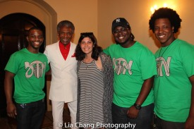 André De Shields with BTN volunteers at BTN's 30th Anniversary conference at the Palmer House Hilton in Chicago on August 9, 2016. Photo by Lia Chang