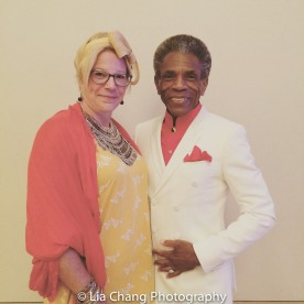 BTN President kb saine and André De Shields at BTN's 30th Anniversary Bruncheon at the Palmer House Hilton in Chicago on August 9, 2016. Photo by Lia Chang