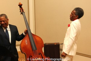 Double Bassist Anthony J. Mhoon and André De Shields at BTN's 30th Anniversary Bruncheon at the Palmer House Hilton in Chicago on August 9, 2016. Photo by Lia Chang