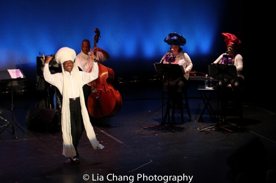 André De Shields, Anthony J. Mhoon, Kimberly Lawson and Donica Lynn. Photo by Lia Chang