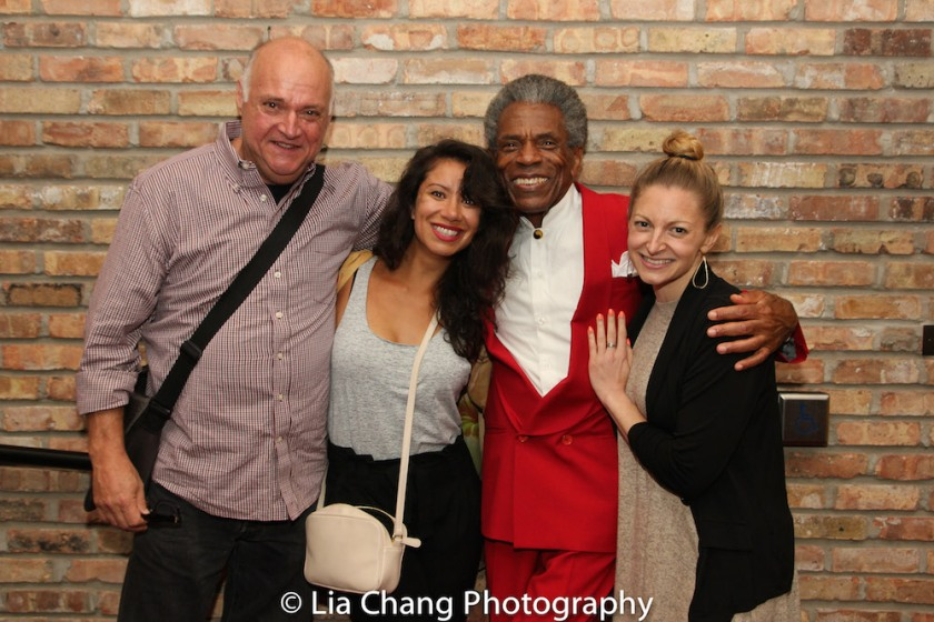Matt De Caro, Monica Lopez Orozco, André De Shields, Lauren Molina. Photo by Lia Chang