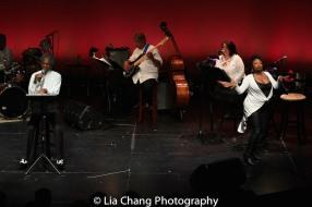 André De Shields, Robert Reddrick, Anthony J. Mhoon, Kimberly Lawson and Donica Lynn. Photo by Lia Chang
