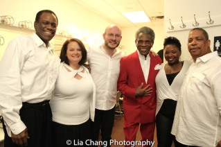 Robert Reddrick, Kimberly Lawson, Doug Peck, André De Shields, Donica Lynn, Anthony J. Mhoon. Photo by Lia Chang