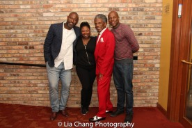 Tyrone L. Robinson, Donica Lynn, André De Shields and Chris Sams. Photo by Lia Chang