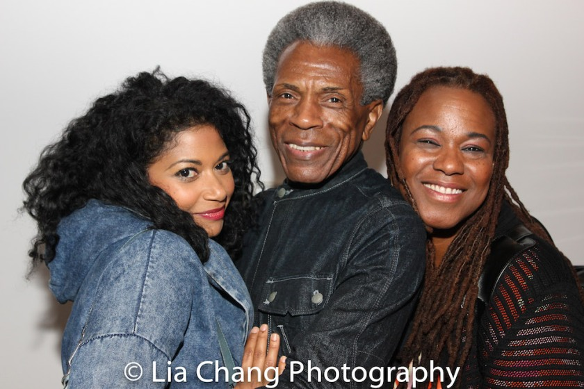Rebecca Naomi Jones, André De Shields, Kecia Lewis. Photo by Lia Chang