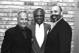 Jim Corti, Artistic Director at the Paramount Theatre, André De Shields, William Osetek, Artistic Director for Drury Lane Theatre. Photo by Lia Chang