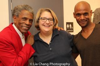 André De Shields, Tina Jach and Nebi Berhane. Photo by Lia Chang