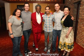 Kimberly Lawson, Mario Mazzetti, André De Shields, Scott Gryder, Nick Sula, Sarah Wurz. Photo by Lia Chang