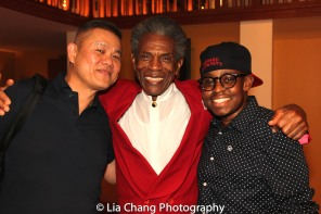 Victory Gardens Artistic Director Chay Yew, André De Shields, Samuel G. Roberson Jr. Photo by Lia Chang