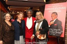 Bobbye Natkin, Cordis Fejer, André De Shields and a guest. Photo by Lia Chang