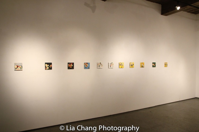 Paintings by Arlan Huang. Photo by Lia Chang