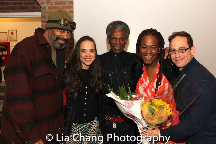 Anthony Chisholm, Carla Brothers, André De Shields, Kecia Lewis, Garth Kravits. Photo by Lia Chang