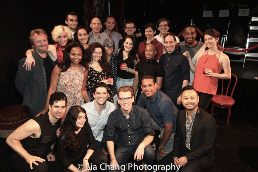 The cast and creative team of THE WILD PARTY. Photo by Lia Chang