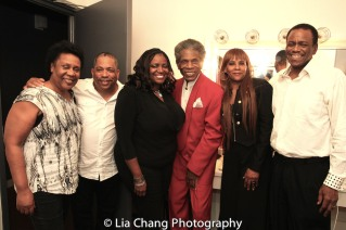 Jackie Taylor, Anthony J. Mhoon, Cassandra Mhoon, André De Shields, Linda Reddrick and Robert Reddrick. Photo by Lia Chang