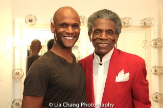 Nebi Berhane and André De Shields. Photo by Lia Chang