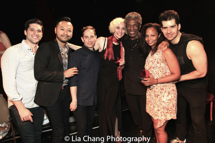Sam Edgerly, Billy Bustamante, Garth Kravits, Jamey Hood, André De Shields, Lauren Hooper and Denis Lambert. Photo by Lia Chang