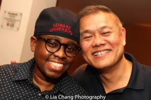 Samuel G. Roberson Jr. and Victory Gardens Artistic Director Chay Yew. Photo by Lia Chang