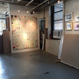 Paintings by Arlan Huang on view during Gowanus Arts Walk 2016 on October 16, 2016. Photo by Lia Chang