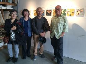 Artist Arlan Huang in his studio during Gowanus Arts Walk 2016 on October 16, 2016. Photo by Lia Chang