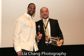 Demetrius Angelo and Felix Cortés at the UAS IAFF Awards at HBO in New York on November 11, 2016. Photo by Lia Chang