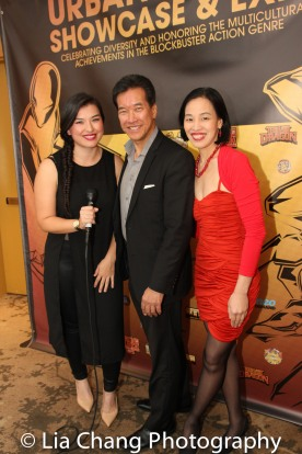 Peter Kwong and Lia Chang at the Cinemax® VIP Welcome Red Carpet Reception and UAS IAFF Awards at HBO in New York on November 11, 2016. Photo by Garth Kravits