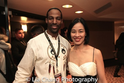 Demetrius Angelo and Lia Chang at the 4th Annual Urban Action Showcase and Expo at the AMC Empire 25 Times Square in New York on November 12, 2016. Photo by Lia Chang