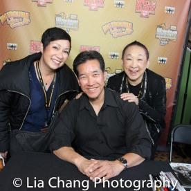 Patricia Lee Chu, Peter Kwong and Lori Tan Chinn. Photo by Lia Chang