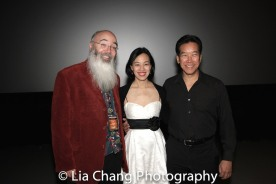 Ric Meyers, Lia Chang and Peter Kwong after the 30th Anniversary screening of BIG TROUBLE IN LITTLE CHINA at the 4th Annual Urban Action Showcase and Expo at the AMC Empire 25 Times Square in New York on November 12, 2016. Photo by Garth Kravits