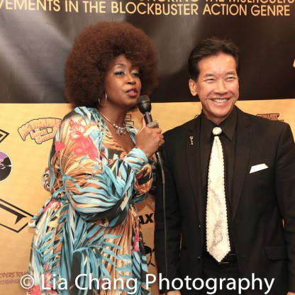 Rochelle Miller and Peter Kwong at the Urban Action Showcase Diversity in Action Celebration at the AMC Empire 25 Times Square in New York on November 12, 2016. Photo by Lia Chang