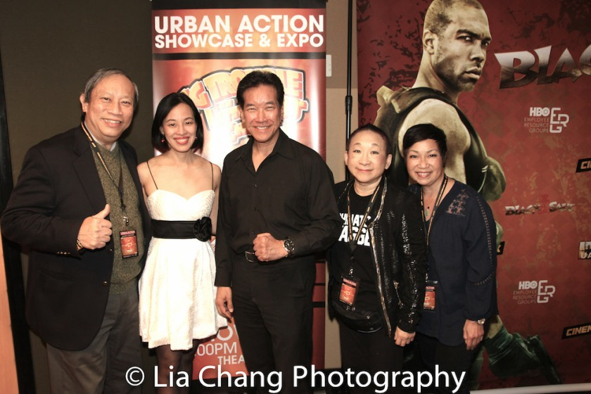 Kenny Chin, Lia Chang, Peter Kwong, Lori Tan Chinn and Patricia Lee Chu at the 4th Annual Urban Action Showcase and Expo at the AMC Empire 25 Times Square in New York on November 12, 2016. Photo by Garth Kravits