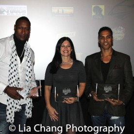 Hakim Alston, Christine Bannon Rodrigues and Taimak at the Urban Action Showcase Diversity in Action Celebration at the AMC Empire 25 Times Square in New York on November 12, 2016. Photo by Lia Chang