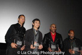 """Urban Fists of Legends Legacy Award Honorees Vincent Lyn, Don """"The Dragon"""" Wilson, Robert Samuels and Michael Woods at the Urban Action Showcase Diversity in Action Celebration at the AMC Empire 25 Times Square in New York on November 12, 2016. Photo by Lia Chang"""