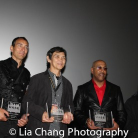 "Urban Fists of Legends Legacy Award Honorees Vincent Lyn, Don ""The Dragon"" Wilson, Robert Samuels and Michael Woods at the Urban Action Showcase Diversity in Action Celebration at the AMC Empire 25 Times Square in New York on November 12, 2016. Photo by Lia Chang"