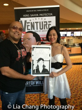 Will Torres and Lia Chang at the 4th Annual Urban Action Showcase and Expo at the AMC Empire 25 Times Square in New York on November 12, 2016. Photo by Garth Kravits