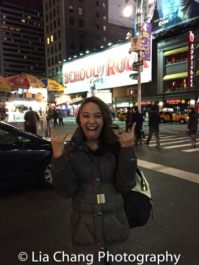 Jaygee Macapugay makes her Broadway debut in SCHOOL OF ROCK. Photo by Lia Chang