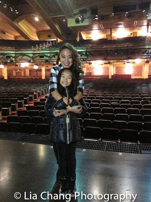 Jaygee Macapugay and Olivia Chun play mother and daughter in SCHOOL OF ROCK, and share the same birthday - November 26. Photo by Lia Chang
