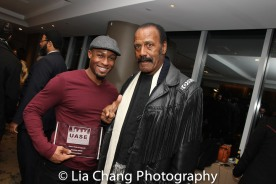 "Phoenix Award Honoree Emmanuel Brown with Fred ""The Hammer Williamson at the Cinemax® VIP Welcome Red Carpet Reception and UAS IAFF Awards at HBO in New York on November 11, 2016. Photo by Lia Chang"