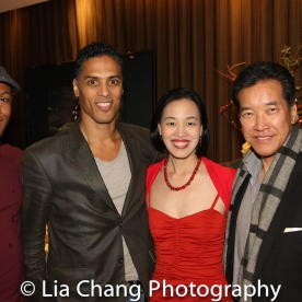 Phoenix Award Honoree Emmanuel Brown, Taimak, Lia Chang and Peter Kwong at the Cinemax® VIP Welcome Red Carpet Reception and UAS IAFF Awards at HBO in New York on November 11, 2016. Photo by Garth Kravits