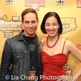 Bev's Girl Films filmmaking partners Garth Kravits and Lia Chang at the Cinemax® VIP Welcome Red Carpet Reception and UAS IAFF Awards at HBO in New York on November 11, 2016.