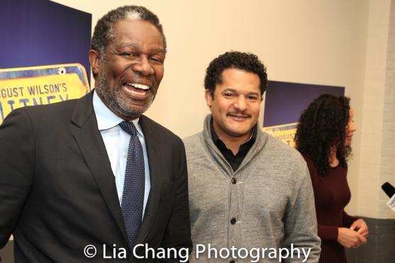 John Douglas Thompson and Brandon J. Dirden. Photo by Lia Chang