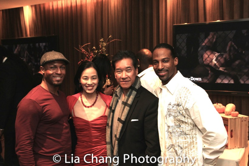 Emmanuel Brown, Lia Chang, Peter Kwong and Demetrius Angelo at the Cinemax® VIP Welcome Red Carpet Reception and UAS IAFF Awards at HBO in New York on November 11, 2016. Photo by Garth Kravits