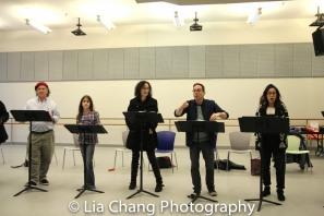 Mark-Linn Baker, Ava Della Pietra, Barbara Walsh, Garth Kravits and Kat Nejat. Photo by Lia Chang