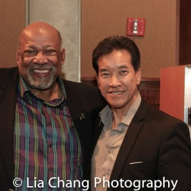 SAG-Aftra New York local President Mike Hodge and Peter Kwong at the Cinemax® VIP Welcome Red Carpet Reception and UAS IAFF Awards at HBO in New York on November 11, 2016. Photo by Lia Chang
