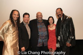 "Oso Tayri Casel, Peter Kwong, SAG-Aftra New York local President Mike Hodge, Lia Chang and Fred ""The Hammer"" Williamson at the Cinemax® VIP Welcome Red Carpet Reception and UAS IAFF Awards at HBO in New York on November 11, 2016."