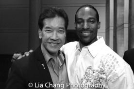 Peter Kwong and Demetrius Angelo at the Cinemax® VIP Welcome Red Carpet Reception and UAS IAFF Awards at HBO in New York on November 11, 2016. Photo by Lia Chang