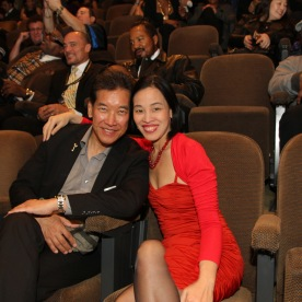 Peter Kwong and Lia Chang at the Cinemax® VIP Welcome Red Carpet Reception and UAS IAFF Awards at HBO in New York on November 11, 2016.